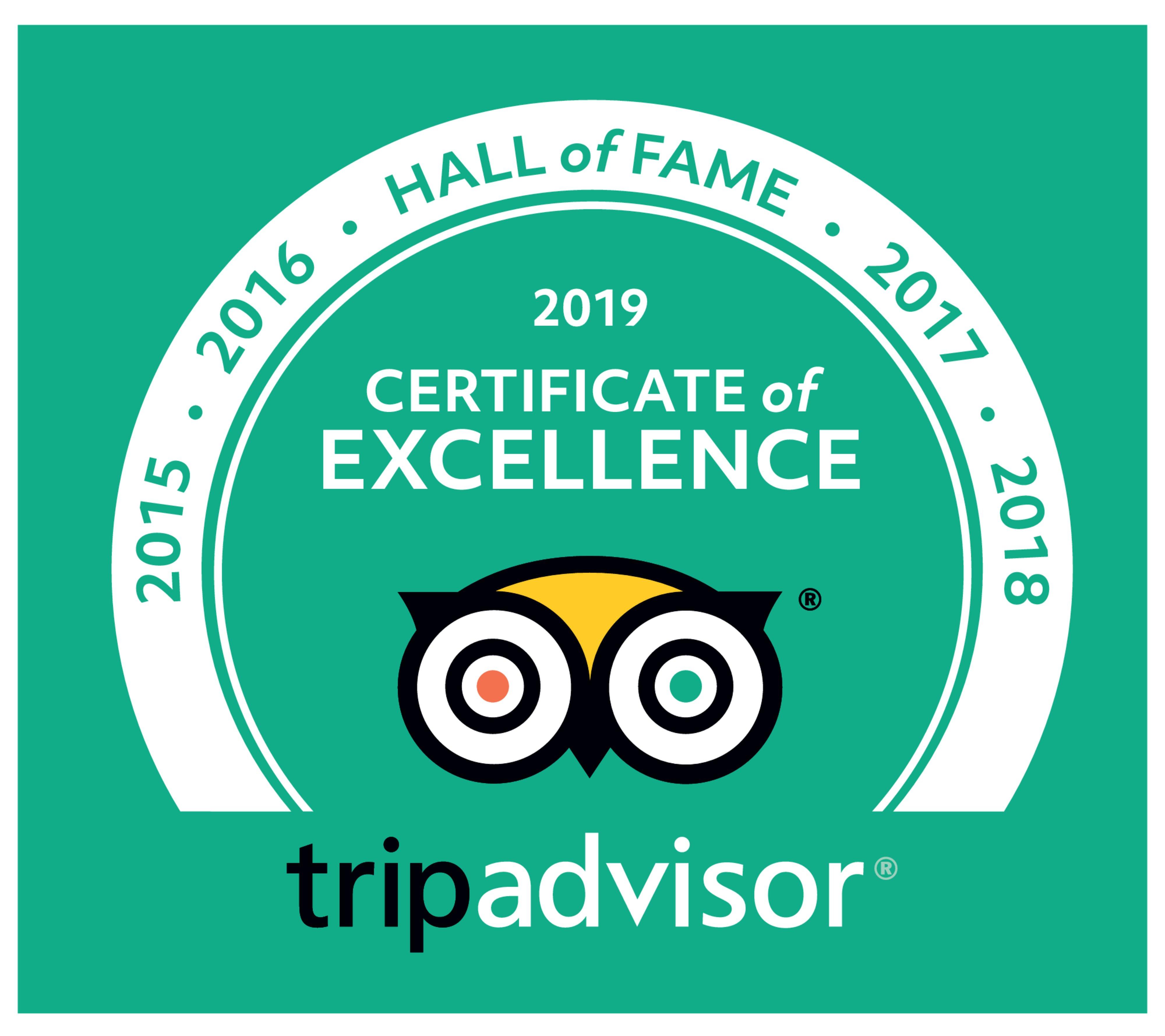 Tripadvisor - Hall of Fame